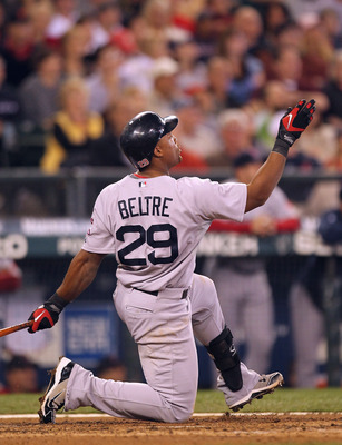 SEATTLE - SEPTEMBER 15:  Adrian Beltre #29 of the Boston Red Sox watches his home run in the fourth inning against the Seattle Mariners at Safeco Field on September 15, 2010 in Seattle, Washington. (Photo by Otto Greule Jr/Getty Images)