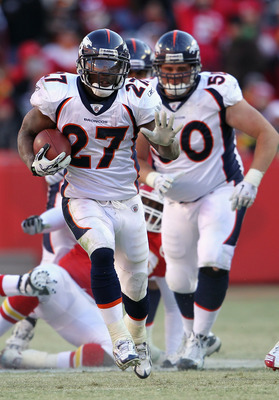 KANSAS CITY, MO - DECEMBER 05:  Knowshon Moreno #27 of the Denver Broncos in action during the game against the Kansas City Chiefs on December 5, 2010 at Arrowhead Stadium in Kansas City, Missouri.  (Photo by Jamie Squire/Getty Images)