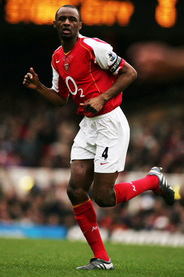 LONDON ENGLAND. JANUARY 9. Patrick Vieira of Arsenal during the FA Cup Third Round match between Arsenal and Stoke City at Highbury on January 9, 2005 in London, England. (Photo by Mark Thompson/Getty Images)