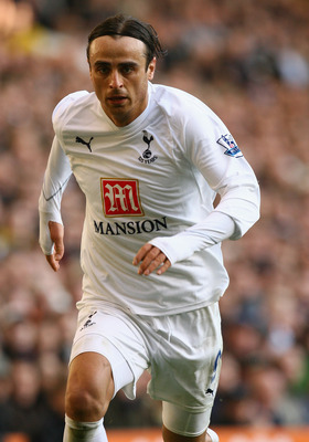 LONDON - MARCH 09:  Dimitar Berbatov of Tottenham Hotspur in action during the Barclays Premier League match between Tottenham Hotspur and West Ham United at White Hart Lane on March 09, 2008 in London, England.  (Photo by Ian Walton/Getty Images)