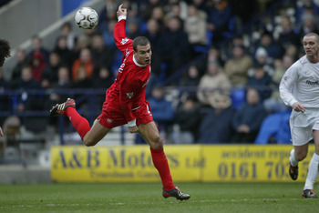 BOLTON, ENGLAND - FEBRUARY 7:  Bruno Cheyrou of Liverpool during the FA Barclaycard Premiership match between Bolton Wanderers and Liverpool at Reebok Stadium on February 7, 204 in Bolton, England.  (Photo by Alex Livesey/Getty Images)