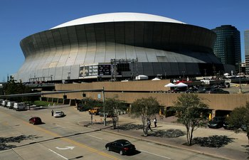 NEW ORLEANS - SEPTEMBER 25:  An exterior view of the newly refurbished Superdome prior to the Monday Night Football game between the Atlanta Falcons and the New Orleans Saints on September 25, 2006 at the Superdome in New Orleans, Louisiana.  Tonight's ga