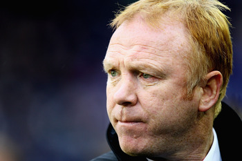 BIRMINGHAM, ENGLAND - DECEMBER 04:  Alex McLeish, manager of Birmingham City looks on during the Barclays Premier League match between Birmingham City and Tottenham Hotspur at St Andrews on December 4, 2010 in Birmingham, England.  (Photo by Matthew Lewis