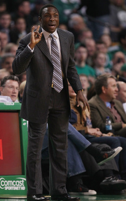 BOSTON - NOVEMBER 24:  Head coach Avery Johnson of the New Jersey Nets directs his plkayers in the first half against the Boston Celtics on November 24, 2010 at the TD Garden in Boston, Massachusetts. NOTE TO USER: User expressly acknowledges and agrees t