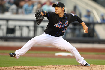 NEW YORK - SEPTEMBER 18:  Hisanori Takahashi #47 of the New York Mets pitches against the Atlanta Braves during their game on September 18, 2010 at Citi Field in the Flushing neighborhood of the Queens borough of New York City.  (Photo by Al Bello/Getty I