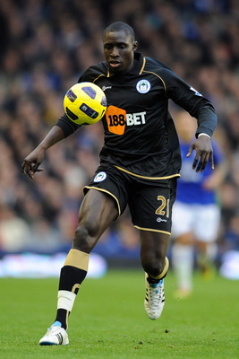 LIVERPOOL, ENGLAND - DECEMBER 11:  Mohamed Diame of Wigan Athletic in action during the Barclays Premier League match between Everton and Wigan Athletic at Goodison Park on December 11, 2010 in Liverpool, England.  (Photo by Chris Brunskill/Getty Images)