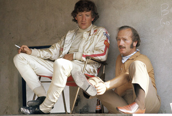 Jochen Rindt with the great F1 genius Colin Chapman