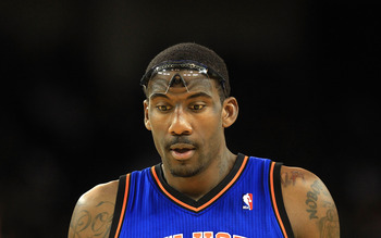 OAKLAND, CA - NOVEMBER 19:  Amar'e Stoudemire #1 of the New York Knicks in action against the Golden State Warriors at Oracle Arena on November 19, 2010 in Oakland, California. NOTE TO USER: User expressly acknowledges and agrees that, by downloading and