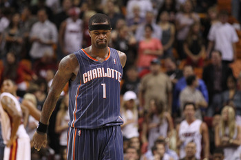 MIAMI - NOVEMBER 19: Stephen Jackson #1 of the Charlotte Bobcats walks off the floor after losing a game against the Miami Heat  at American Airlines Arena on November 19, 2010 in Miami, Florida. NOTE TO USER: User expressly acknowledges and agrees that,