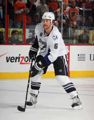 PHILADELPHIA - NOVEMBER 18: Ryan Malone #6 of the Tampa Bay Lightning skates against the Philadelphia Flyers at the Wells Fargo Center on November 18, 2010 in Philadelphia, Pennsylvania. The Lightning defeated the Flyers 8-7.  (Photo by Bruce Bennett/Gett