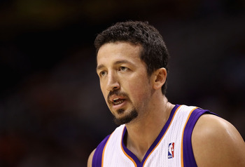 PHOENIX - OCTOBER 12:  Hedo Turkoglu #19 of the Phoenix Suns during the preseason NBA game against the Utah Jazz at US Airways Center on October 12, 2010 in Phoenix, Arizona. NOTE TO USER: User expressly acknowledges and agrees that, by downloading and or