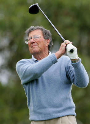SYDNEY, AUSTRALIA - NOVEMBER 24:  Peter Thomson of Australia in action during the exhibition round before the start of the Hillross Australian Open held at the Australian Golf Club November 24, 2004 in Sydney, Australia.  (Photo by Chris McGrath/Getty Ima