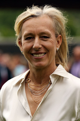 LONDON, ENGLAND - JUNE 24:  Martina Navratilova after meeting Queen Elizabeth II as she attends the Wimbledon Lawn Tennis Championships on Day 4 at the All England Lawn Tennis and Croquet Club on June 24, 2010 in London, England. It is the first visit by