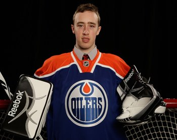 MONTREAL, QC - JUNE 27:  Olivier Roy of the Edmonton Oilers poses for a portrait during the 2009 NHL Entry Draft at the Bell Centre on June 27, 2009 in Montreal, Quebec, Canada.  (Photo by Jamie Squire/Getty Images)
