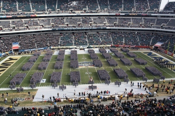 "West Point Corps of Cadets ""March On""at 2010 Atmy Navy game"