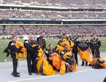Army Parachute Team on the Ground