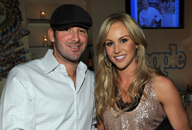 WASHINGTON - APRIL 30:  NFL player Tony Romo and journalist Candice Crawford attend the PEOPLE/TIME party on the eve of the White House Correspondents' Dinner at the St Regis Hotel - Astor Terrace on April 30, 2010 in Washington, DC.  (Photo by Larry Busa