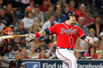 Eric Hinske proved to be a very clutch performer in his first season with the Braves.