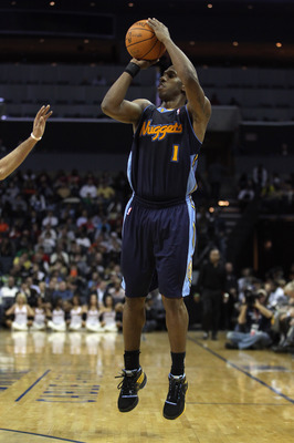 CHARLOTTE, NC - DECEMBER 07:  Chauncey Billups #1 of the Denver Nuggets against the Charlotte Bobcats during their game at Time Warner Cable Arena on December 7, 2010 in Charlotte, North Carolina.  NOTE TO USER: User expressly acknowledges and agrees that