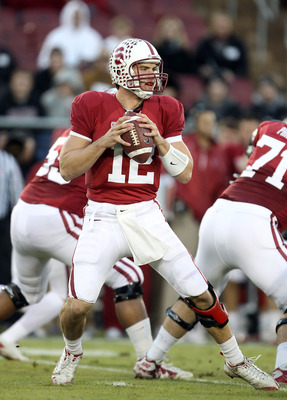 PALO ALTO, CA - NOVEMBER 27:  Andrew Luck #12 of the Stanford Cardinal in action against the Oregon State Beavers at Stanford Stadium on November 27, 2010 in Palo Alto, California.  (Photo by Ezra Shaw/Getty Images)