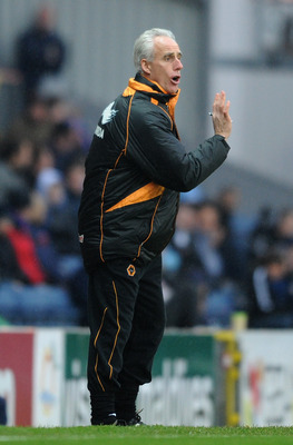 BLACKBURN, ENGLAND - DECEMBER 04:  Wolverhampton Wanderers manager Mick McCarthy gestures from the touchline during the Barclays Premier League match between Blackburn Rovers and Wolverhampton Wanderers at Ewood Park on December 4, 2010 in Blackburn, Engl