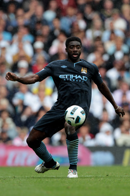 LONDON, ENGLAND - AUGUST 14:  Kolo Toure of Manchester City in action during the Barclays Premier League match between Tottenham Hotspur and Manchester City at White Hart Lane on August 14, 2010 in London, England.  (Photo by Phil Cole/Getty Images)