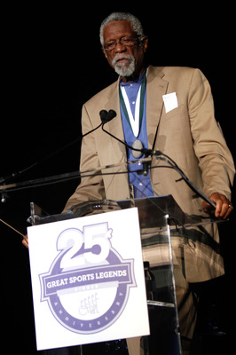 NEW YORK - SEPTEMBER 27:  2010 Honoree and former NBA player Bill Russell attends the 25th Great Sports Legends Dinner to benefit The Buoniconti Fund to Cure Paralysis at The Waldorf=Astoria on September 27, 2010 in New York City.  (Photo by Thos Robinson