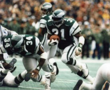 Eagles RB Wilbert Montgomery