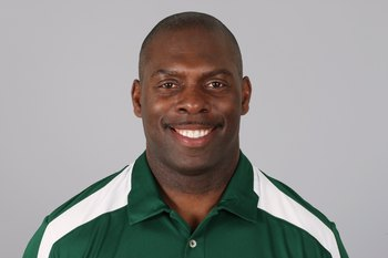 EAST RUTHERFORD, NJ - 2009:  Anthony Lynn of the New York Jets poses for his 2009 NFL headshot at photo day in East Rutherford, New Jersey.  (Photo by NFL Photos)