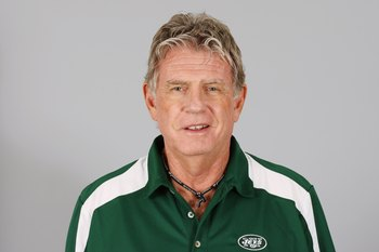 EAST RUTHERFORD, NJ - 2009:  Mike Westhoff of the New York Jets poses for his 2009 NFL headshot at photo day in East Rutherford, New Jersey.  (Photo by NFL Photos)