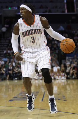 CHARLOTTE, NC - DECEMBER 11:  Gerald Wallace #3 of the Charlotte Bobcats against the Boston Celtics during their game at Time Warner Cable Arena on December 11, 2010 in Charlotte, North Carolina. NOTE TO USER: User expressly acknowledges and agrees that,