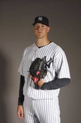 TAMPA, FL - FEBRUARY 21:  Andrew Brackman of the New York Yankees poses during Photo Day on February 21, 2008 at Legends Field in Tampa, Florida. (Photo by Nick Laham/Getty Images)