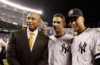 New York's winning trio Bernie Williams, Jorge Posada, Derek Jeter