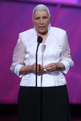 HOLLYWOOD - JULY 11:  North Carolina State women's basketball coach Kay Yow accepts the 'Jimmy V Award' onstage during the 2007 ESPY Awards at the Kodak Theatre on July 11, 2007 in Hollywood, California.  (Photo by Kevin Winter/Getty Images)