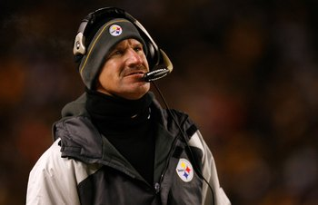 PITTSBURGH - DECEMBER 07:  Head coach Bill Cowher of the Pittsburgh Steelers looks on against the Cleveland Browns December 7, 2006 at Heinz Field in Pittsburgh, Pennsylvania.  (Photo by Gregory Shamus/Getty Images)