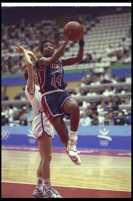 1992:  Cynthia Cooper of the United States goes up for two during a game against the Czech Republic at the Olympic Games in Barcelona, Spain.  USA won the game, 111-55. Mandatory Credit: Mike Powell  /Allsport