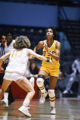 UNDATED- Cheryl Miller #31 of USC Trojans moves for the ball during a women basketball game . Cheryl Miller's college career lasted from 1983-1986. (Photo by: Mike Powell/Getty Images)