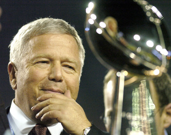 Pats owner Robert Kraft has had his eye on this prize since he last got his hands on it six years ago.