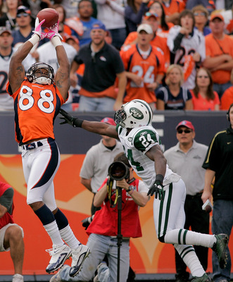 Thomas catching a pass over arguably the best corner in the league in Darrelle Revis.