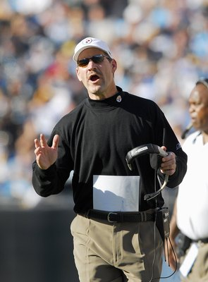 CHARLOTTE, NC - DECEMBER 17:  Head coach Bill Cowher of the Pittsburgh Steelers reacts during the game against the Carolina Panthers December 17, 2006 at Bank of America Stadium in Charlotte, North Carolina. Pittsburgh defeated Carolina 37-3. (Photo By Gr