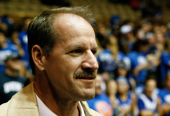 DURHAM, NC - FEBRUARY 11:  Former Pittsburgh Steelers Head Coach Bill Cowher attends the game between the North Carolina Tar Heels and the Duke Blue Devils on February 11, 2009 at Cameron Indoor Stadium in Durham, North Carolina.  (Photo by Kevin Cox/Gett