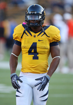 BERKELEY, CA - NOVEMBER 7: Jahvid Best #4 of the California Golden Bears looks on against the Oregon State Beavers at California Memorial Stadium on November 7, 2009 in Berkeley, California. (Photo by Jed Jacobsohn/Getty Images)
