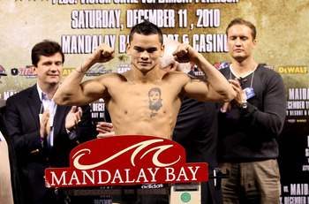 LAS VEGAS, NV - DECEMBER 10:  Marcos Maidana during the weigh in on December 10, 2010 in Las Vegas, Nevada.  (Photo by Scott Heavey/Getty Images)