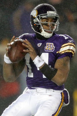MINNEAPOLIS, MN - DECEMBER 20:  Quarterback Joe Webb #14 of the Minnesota Vikings replaces Brett Favre against the Chicago Bears at TCF Bank Stadium on December 20, 2010 in Minneapolis, Minnesota.  (Photo by Matthew Stockman/Getty Images)