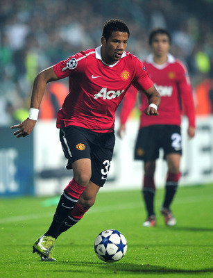 BURSA, TURKEY - NOVEMBER 02:  Bebe of Manchester United in action during the UEFA Champions League Group C match between Bursapor Kulubu and Manchester United at the Bursa Ataturk Stadium on November 2, 2010 in Bursa, Turkey.  (Photo by Shaun Botterill/Ge