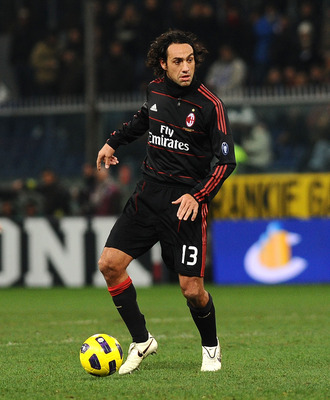 GENOA, ITALY - NOVEMBER 27: Alessandro Nesta of AC Milan in action during the Serie A match between UC  Sampdoria and AC Milan at Stadio Luigi Ferraris on November 27, 2010 in Genoa, Italy. (Photo by Massimo Cebrelli/Getty Images)