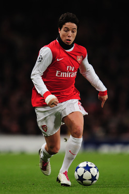 LONDON, ENGLAND - DECEMBER 08:  Samir Nasri of Arsenal in action during the UEFA Champions League Group H match between Arsenal and FK Partizan Belgrade at the Emirates Stadium on December 8, 2010 in London, England.  (Photo by Shaun Botterill/Getty Image