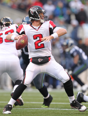 SEATTLE, WA - DECEMBER 19:  Quarterback Matt Ryan #2 of the Atlanta Falcons passes against the Seattle Seahawks at Qwest Field on December 19, 2010 in Seattle, Washington. (Photo by Otto Greule Jr/Getty Images)