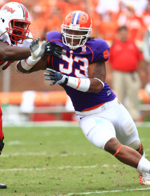 Clemson Consensus All-America defensive end Da'Quan Bowers