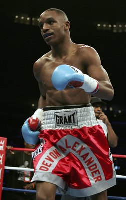 Devon Alexander (pictured here) has already become a star in his hometown of Saint Louis drawing crowds of over 10,000 to see his fights.